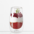 Verrine tomate,fromage et betterave