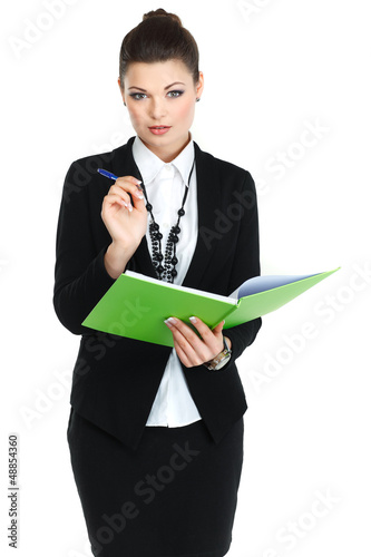 A portrait of beautiful business woman. Manager at work