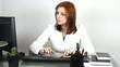 girl secretary at work office