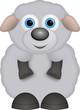 kleines graues Schaf