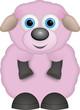 kleines rosa Schaf