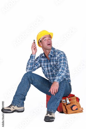 A handyman over the phone.