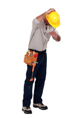 Tradesman suffering from a work injury