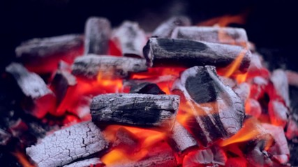 Coal Fire Flames