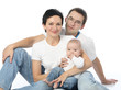 young parents with child infant
