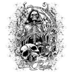 T-Shirt Print Grim Reaper