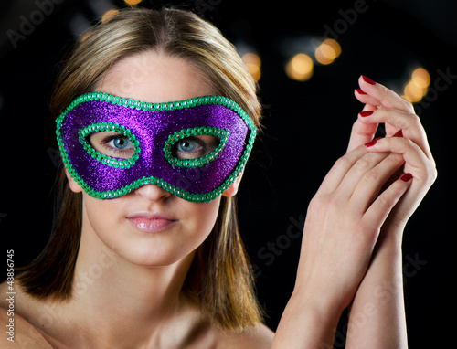 woman in carnival mask