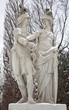 Vienna -  Statue from mythology in Schonbrunn palace in winter