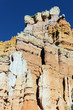 vertical view of famous hoodoo rocks