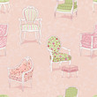 Background with antique armchairs