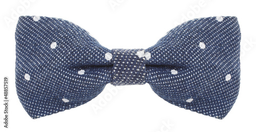 Bow tie denim blue with white spots