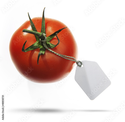 Tomato with  label