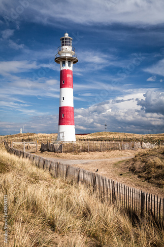 Lighthouse in Nieuwpoort. Belgium. - 48859171