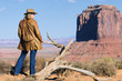 young cowgirl at Monument Valley