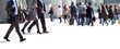 A large group of businessmen. Panorama.