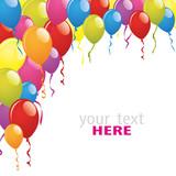 Fototapety bright balloons