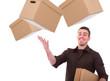 postmann mit paketen