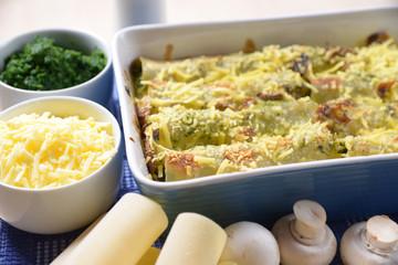 Champignon-Spinat-Cannelloni