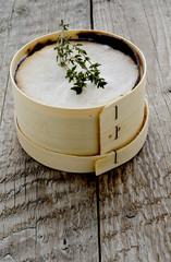 Mont d'Or cheese with thyme