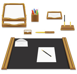 stationery office vector illustration