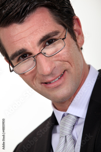close-up portrait of young businessman in his thirties