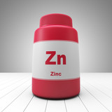 Zinc supplements red bottle