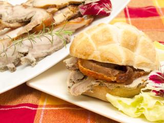 sandwich with roast pork