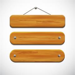Set of wooden tablets