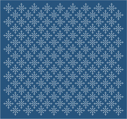 Seamless pattern with white snowflakes.