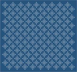 Seamless pattern with white snowflakes.