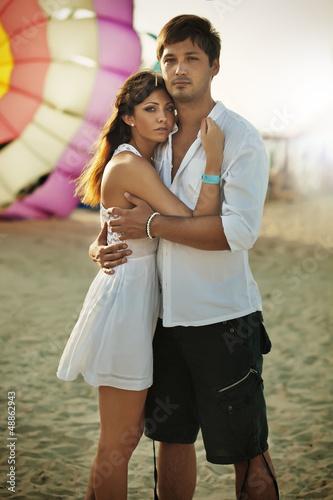 Summer style of loving couple