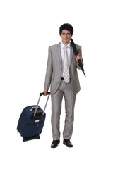 A man on a business trip.