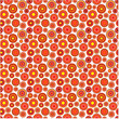 Cute red seamless floral pattern