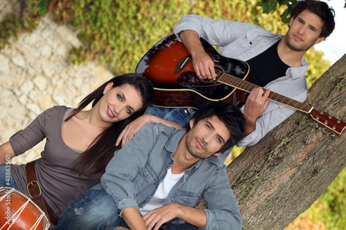 Music Group in park