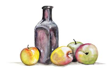 Apple juice concept