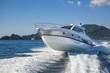canvas print picture - motor boat rio yacht