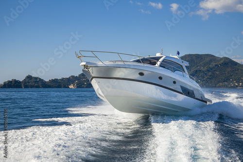 canvas print picture motor boat rio yacht