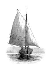 Sailling Boat - Voilier - 19th century