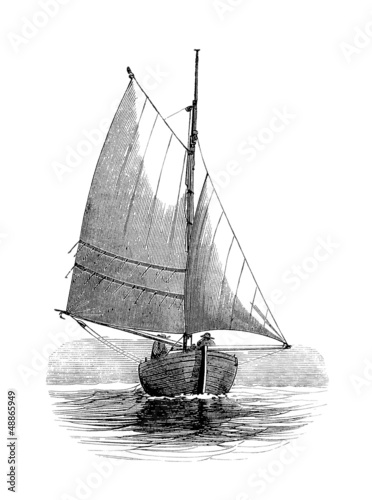 Sailling Boat - Voilier - 19th century - 48865949