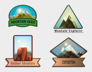 Mountains labels