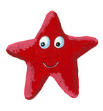 Funny red star