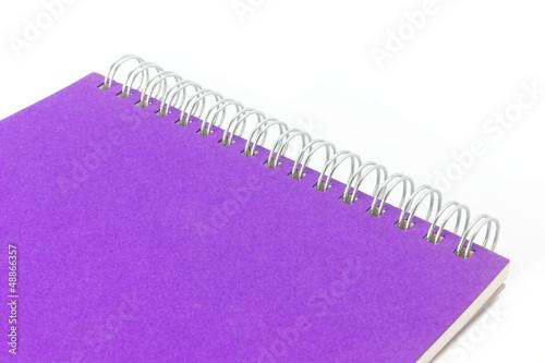 Sketchbook isoliert auf weiß