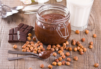 Chocolate hazelnut spread.