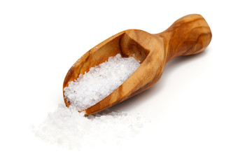 sea salt in a scoop