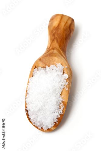 sea salt in a scoop
