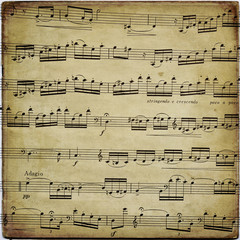 Old musical score