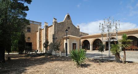 Le jardin du sanctuaire de Cura d'Algaida à Majorque