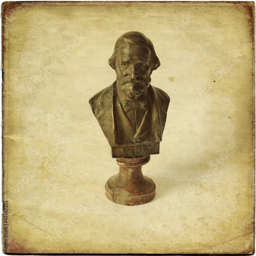 Busto in bronzo di Giuseppe Verdi