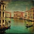 Venice - Gondolas in the Grand Canal