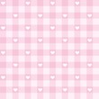 Seamless pink valentines background hearts vector pattern